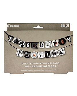 Typography Bunting