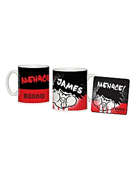 Personalised Beano Mug & Coaster