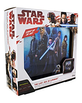 The Last Jedi 3D Luminart