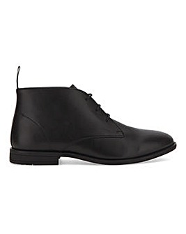 Leather Look Comfort Chukka Boot W Fit