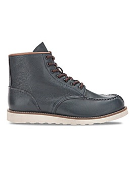 Tully Leather Lace Up Boot Wide Fit