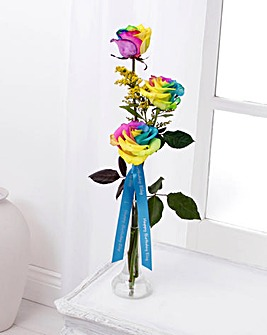 Personalised Kaleidoscope Rose Vase