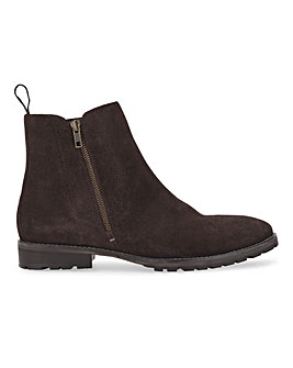 Zac Two Way Suede Boot Wide Fit
