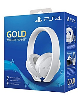 PS 4 Gold Wireless Headset White