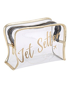 W&R Jet Setter Clear Wash Bag