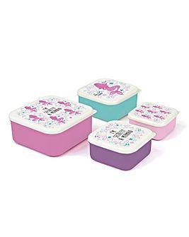 Mermaid Set of 4 Lunchboxes