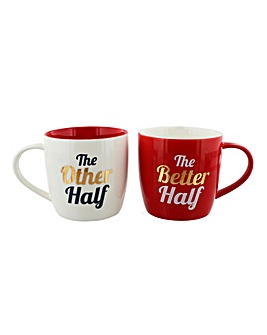 Other Half Better Half Gift Mug Set