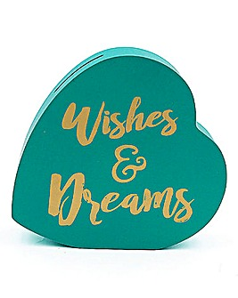 Wishes and Dreams Heart Money Bank