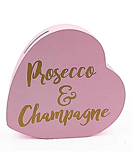 Prosecco & Champagne Heart Money Bank