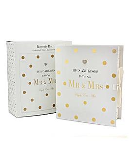 Mad Dots Mr & Mrs Keepsake Box