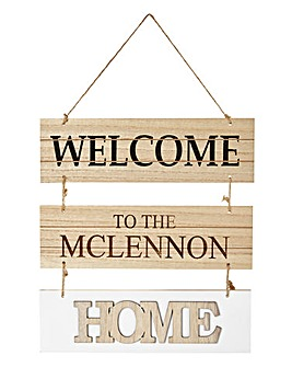 Personalised Welcome Sign
