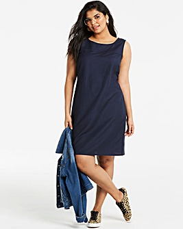 Easycare V Neck Linen Dress