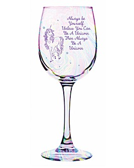 Unicorn Lustre Wine Glass