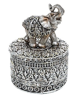 Silver Etch Elephant Box