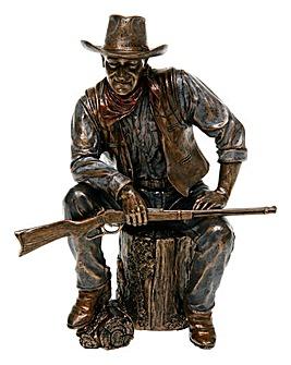 Bronze Sitting Cowboy