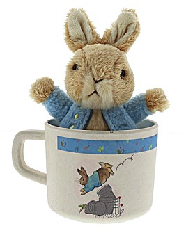 Peter Rabbit Mug and Plush Gift Set