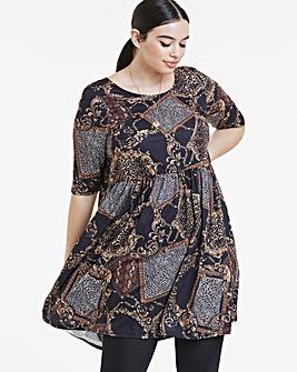 Chain Print Smock Dress