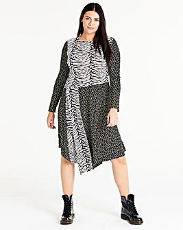 Mixed Printed Swing Dress
