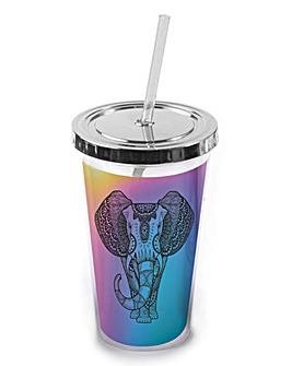 Iridescent Straw Cup