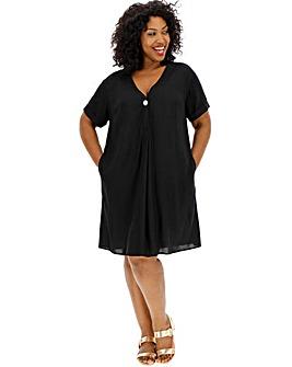 Black Shirt Shift Dress