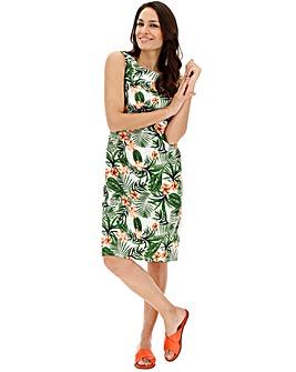 Easycare V Neck Linen Dress
