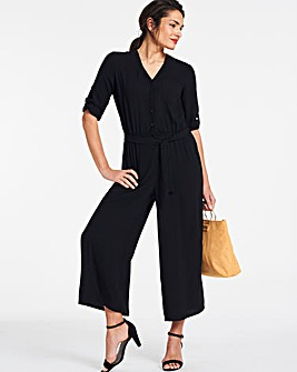 e55f88833b1b Black Button Through Jumpsuit