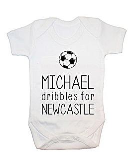 Personalised Football Baby Vest