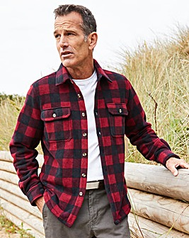 Premier Man Red Check Fleece Shirt R