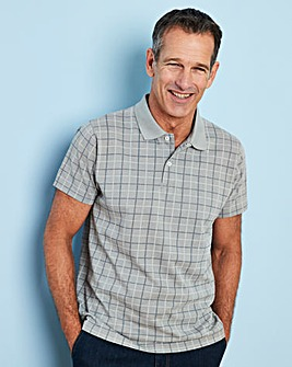 Premier Man Grey Check Polo Shirt R