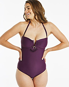 Pleated Multiway Bandeau Swimsuit