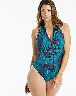 Halterneck Swimsuit With Waist Tie