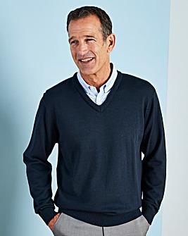 Premier Man Navy Mock Shirt Jumper R