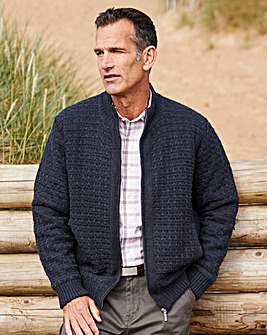 Premier Man Navy Quilt Lined Cardigan R