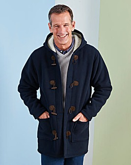 Premier Man Navy Fleece Duffle Coat Regular