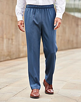 Premier Man Check Elasticated Waist Formal Trousers