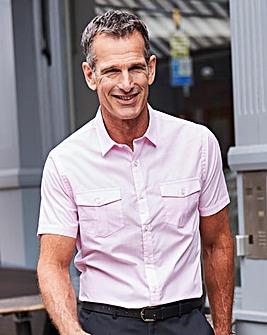 Premier Man Pink Check Pilot Shirt R