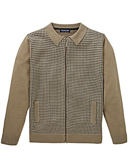 Premier Man Beige Zipper Cardigan Regular