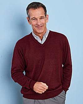 Premier Man Wine Mock Shirt Jumper R