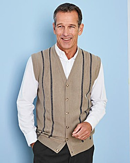 Premier Man Stone Jacquard Waistcoat R