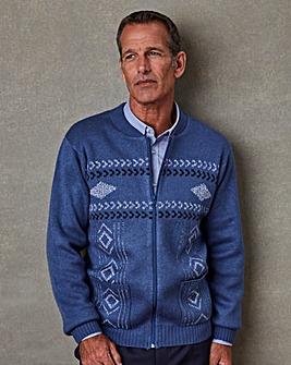 Premier Man Jacquard Zipper Cardigan Regular