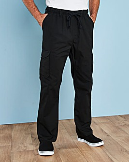 Premier Man Black Cargo Trousers