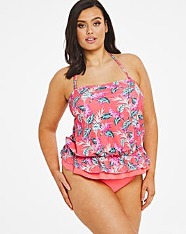 Tropical Blouson Tankini Set