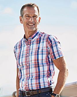 Blue Check Short Sleeve Shirt Regular
