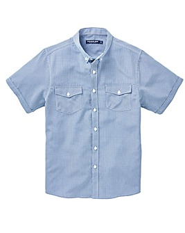 Blue Check Soft Touch Shirt Regular