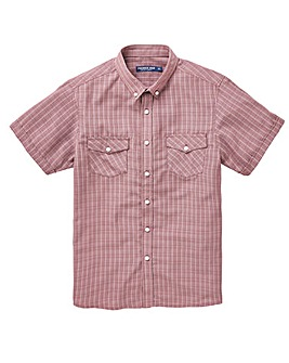 Red Check Soft Touch Shirt Regular