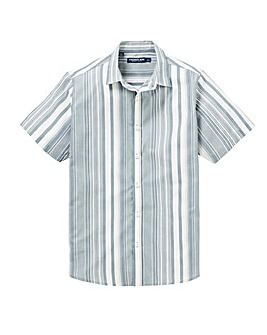 Blue Stripe Short Sleeve Shirt Regular