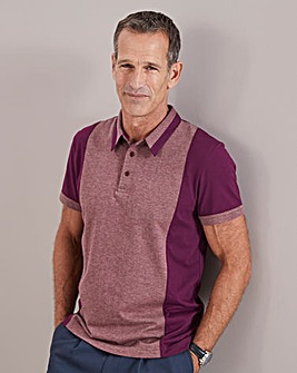 Purple Tailored Collar Polo Shirt