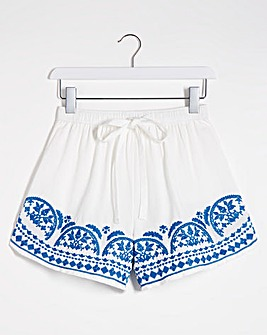 Embroidered Beach Short