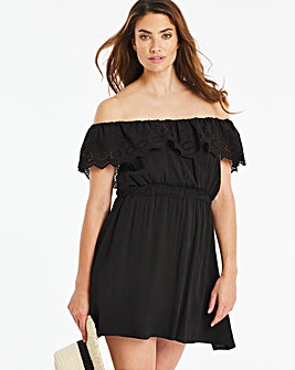 Bardot Broderie Beach Dress