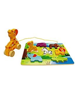 Personalised Wooden Pull Along Puzzles